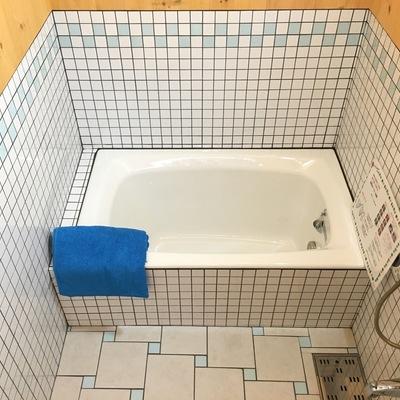 お風呂も、タイルが可愛い