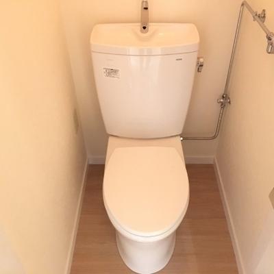 トイレは個室。照明は暖色系でした!※写真は前回募集時のものです