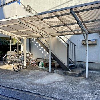 【駐輪場】晴れた日は自転車で吉祥寺まで行ってみるのもいいですね。