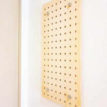 忘れたくないものはここに掛けておけば安心だな。※写真は3階の同間取り別部屋のものです