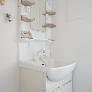 洗面台はこちらをきれいに♪