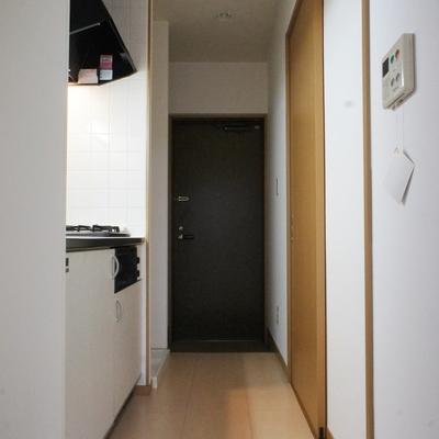 廊下。ここでお料理