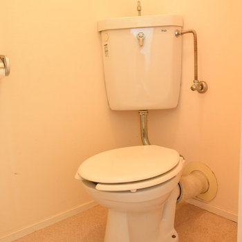トイレはレトロな仕様です