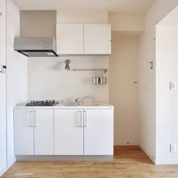 キッチンすっぽりと収まっています。