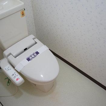 トイレも広々ウォシュレット!