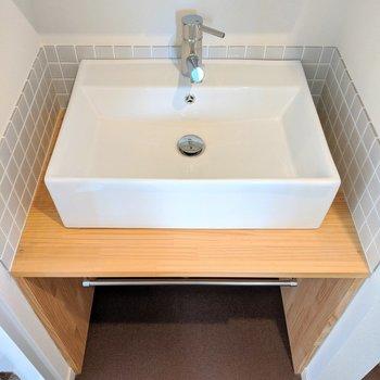 かわいい洗面台で身支度!
