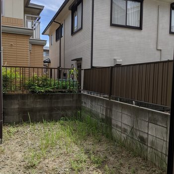 【庭】夏にはここで水遊び!