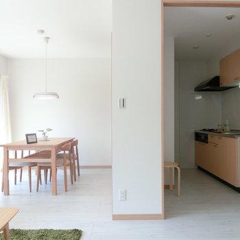 キッチンの配置。