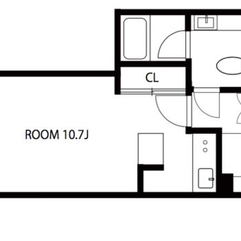 お部屋は1人暮らしならゆったり過ごせます!