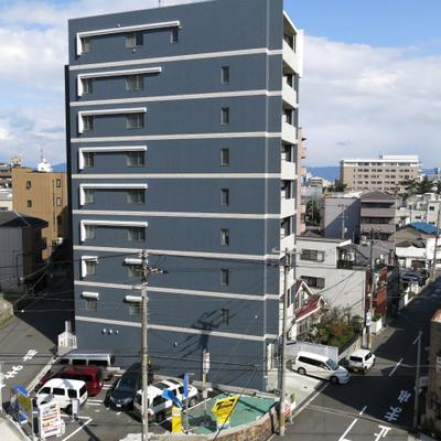 窓からの眺め(写真は601号室)