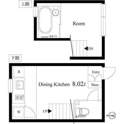 2階はとってもコンパクトです。