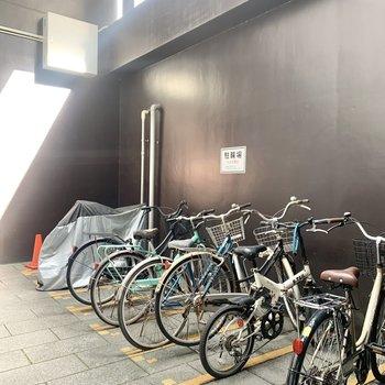 駐輪場はエントランス入ったところにありました。※写真は前回募集時のものです