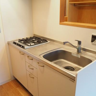 キッチンは2口コンロです。