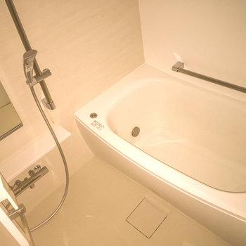 浴槽の広いバスルーム、乾燥機も付いています