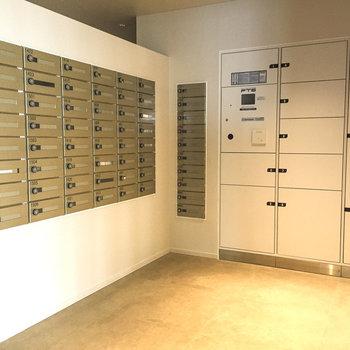13階にレターボックス・宅配ボックスがあります