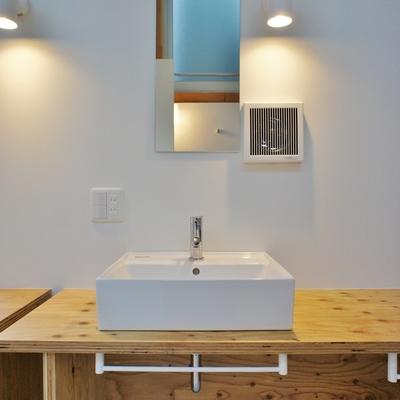 洗面台もシンプルでいい