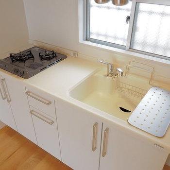 【イメージ】キッチンは2口ガスコンロ!料理がはかどる〜