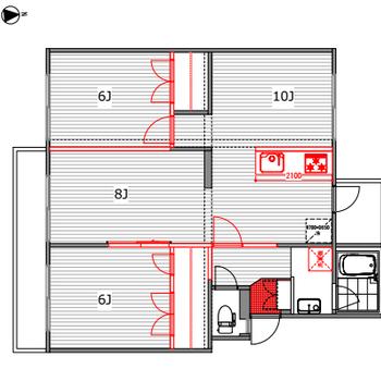 2部屋の使い方は自由自在。