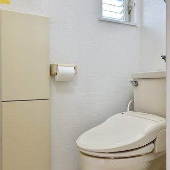 トイレも個室!換気も◎※写真はクリーニング前のものです