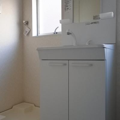 洗面はもちろんシャンプードレッサー。使いやすいのが嬉しい!