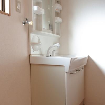 が、独立洗面もありますよ!!ご安心を。