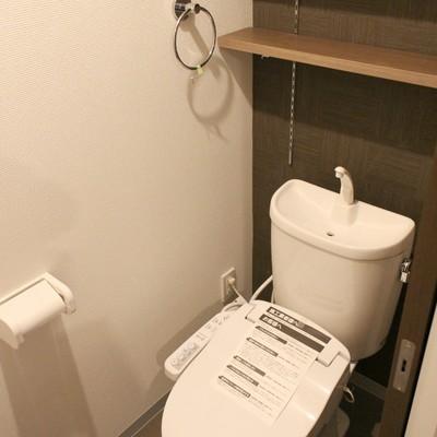 棚が嬉しい落ち着くトイレ