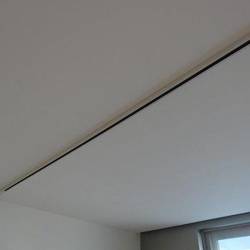 天井にはライティングレール設置可能※写真は3階の同間取り別部屋のものです