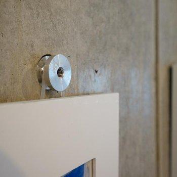 コンクリの壁は、こうやって使えます!!※写真は416号室