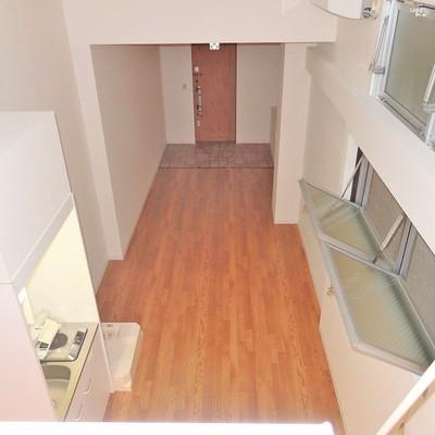 上からお部屋を眺めてみると。