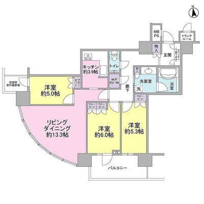 クリオレジダンスタワー横濱鶴ヶ峰 の間取り