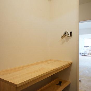 洗面台も大きなサイズになります♪※写真は工事中です