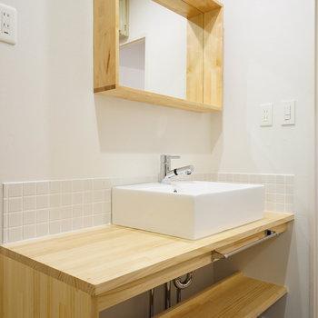 洗面台も大きなサイズ!