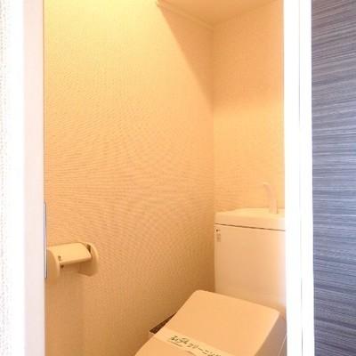 トイレの上の棚が嬉しい