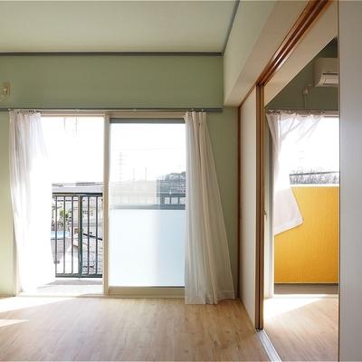 風通しがいい!!建具は基本的にスライド式です※写真は5階の同間取り別部屋のものです