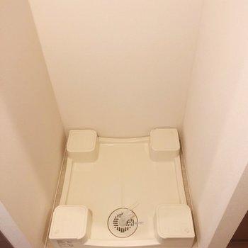 洗濯機置場がキッチン脇にあります