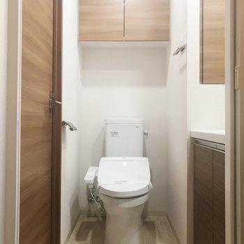トイレと洗面所がつながっています