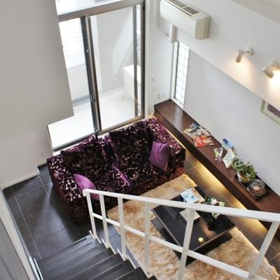 俯瞰。凄い高級感。※モデルルームになります、家具等はサンプルです