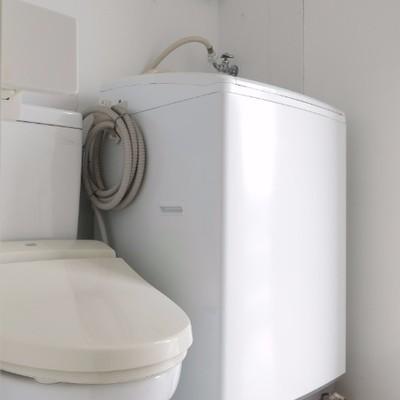 ウォシュレット付き、洗濯機つきです。※写真は前回掲載時のものです。