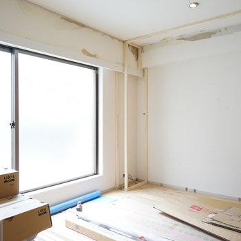 こちらも大きな窓が◎※写真は工事中です