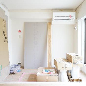 寝室は8.5帖の空間♪※写真は工事中です