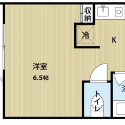 お部屋はとってもコンパクトな1Rですね。