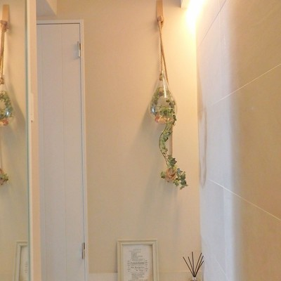 玄関はグリーンを添えて。※写真は前回募集時のものです