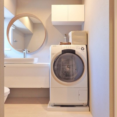 プラズマクラスターの洗濯機もまあるいドラム。※写真は前回募集時のものです