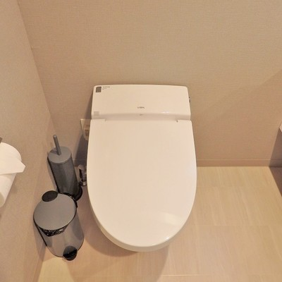 トイレはアメセパなので、脱衣スペースにあります。※写真は前回募集時のものです