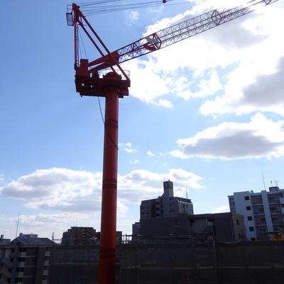 南向きの眺望。※ビルが建築中なのが気になりました