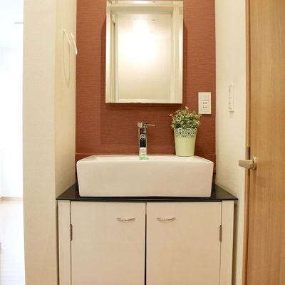 洗面台も可愛いデザイン