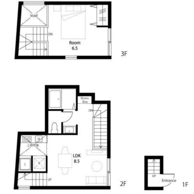 部屋は2階からになります
