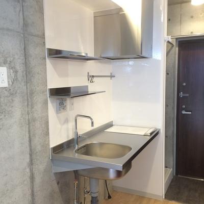 IH2口の造作キッチン