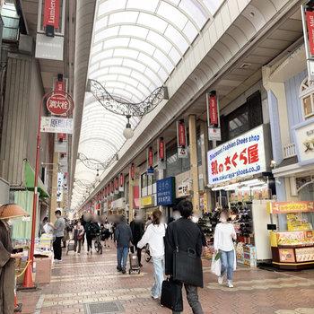 新小岩駅周辺は商店街があったりと賑わっています。