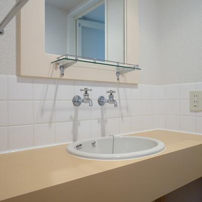 独立洗面台もゆったりサイズ!※写真は前回募集時のものです
